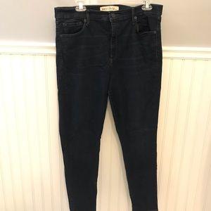GAP high waisted dark blue skinny jeans